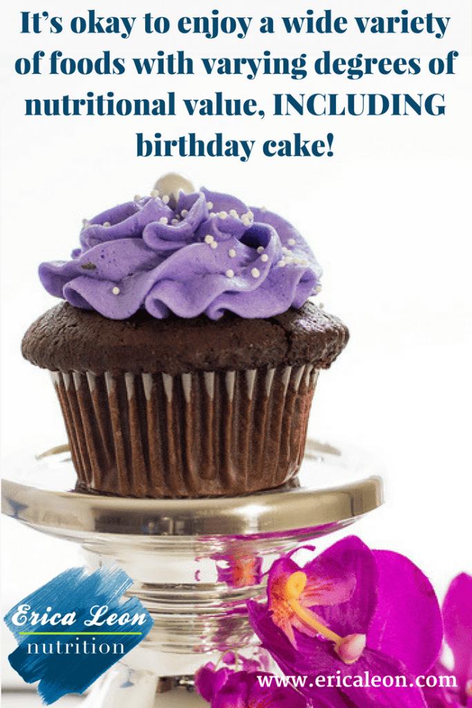 enjoy birthday cake while on a diet