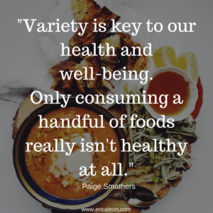 variety is key to our sense of health and well-being