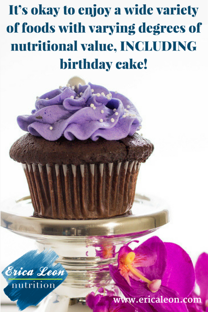 enjoy birthday cake while on a diet