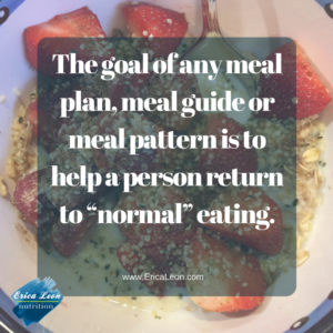 meal planning brings structure