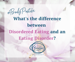 Erica Leon, Registered Dietitian - What is the Difference between Disordered Eating and an Eating Disorder