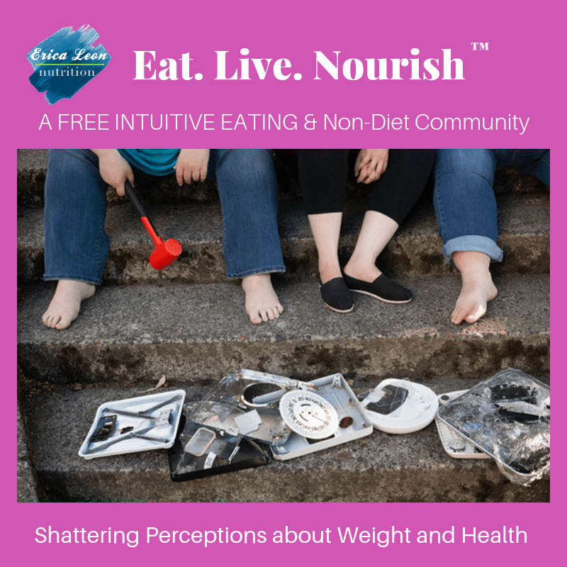 Eat Live Nourish: An Intuitive Eating & Non-Diet Community facebook
