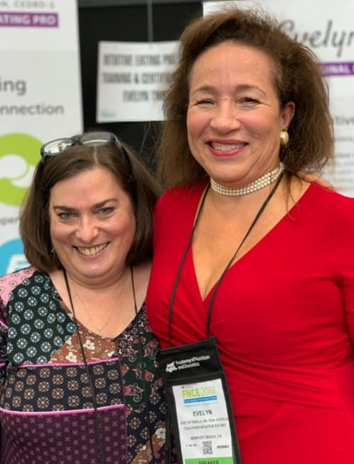 Erica Leon and Evelyn Tribole at FNCE 2019