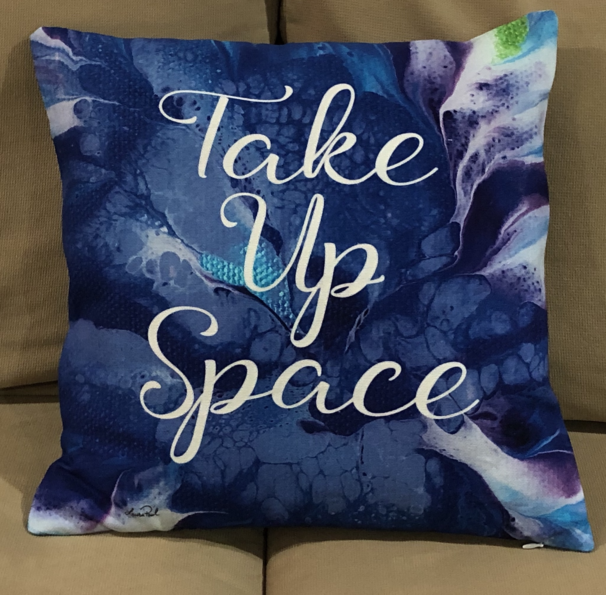 Take Up Space Pillow