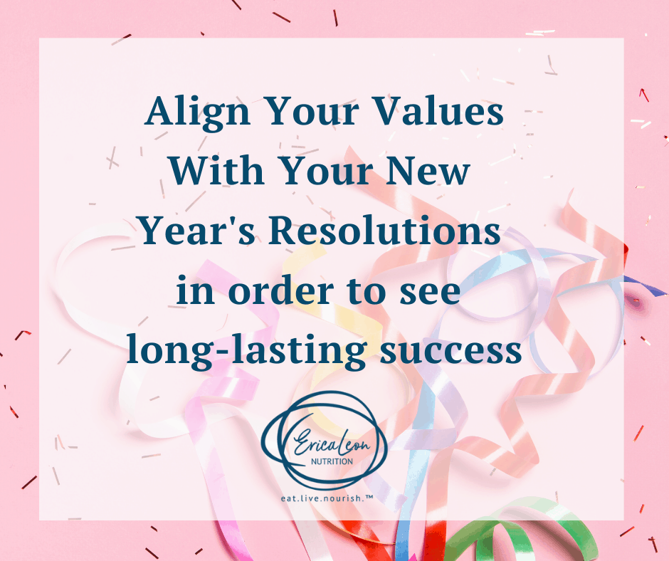 align your values for long lasting success in weight loss