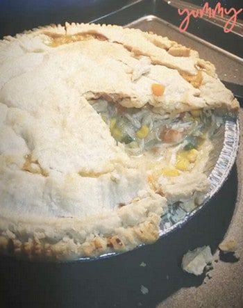 healthy comfort food - chicken pot pie