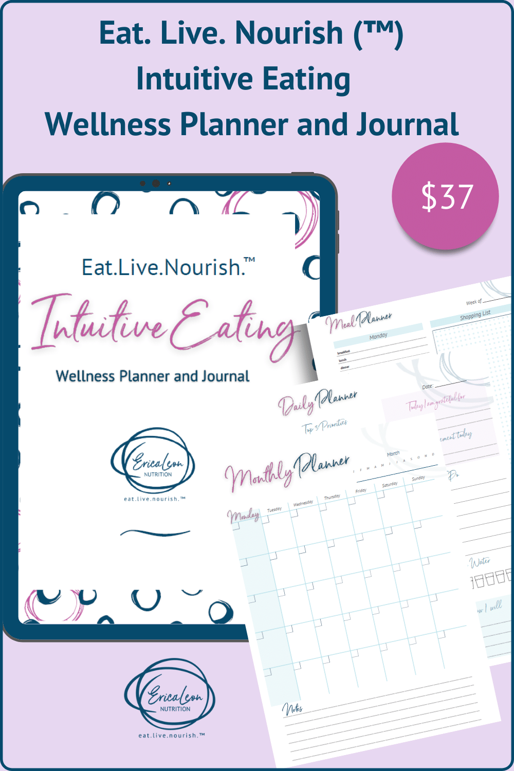 Intuitive Eating Wellness Planner and Journal