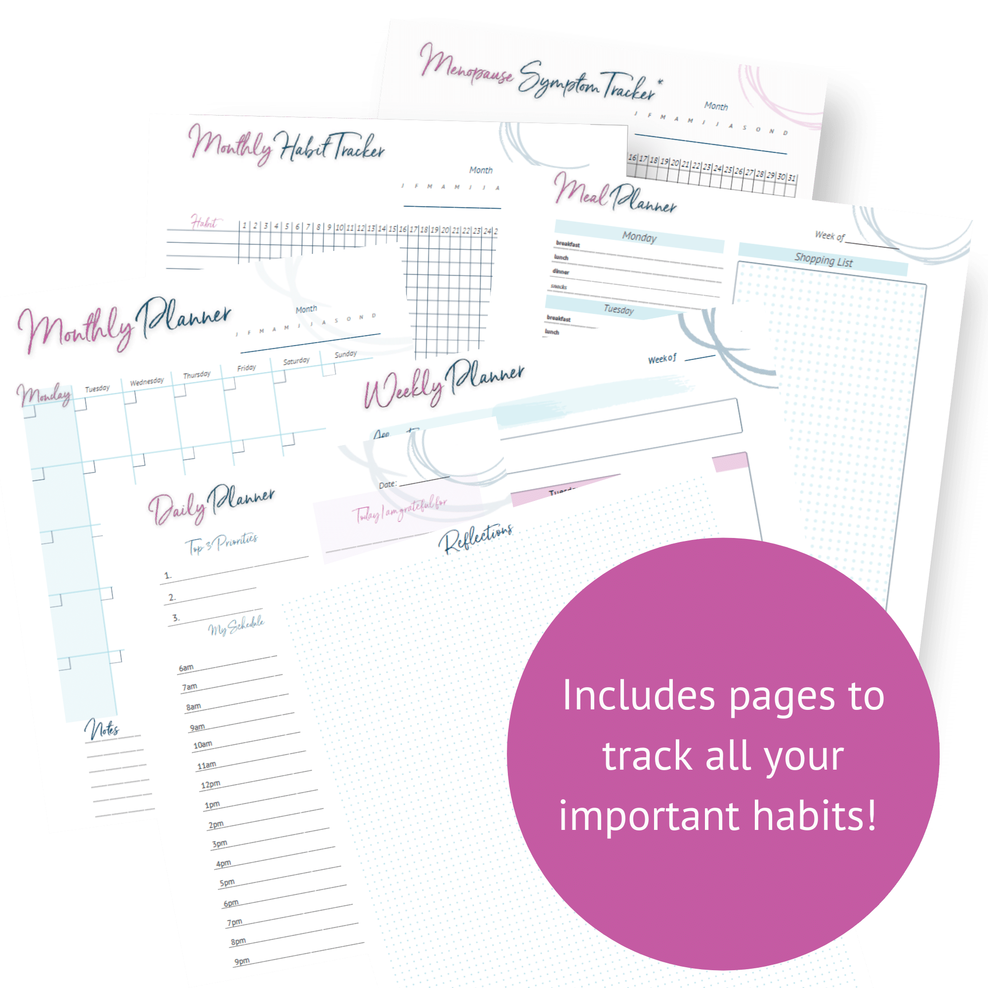 Intuitive eating Planner pages