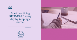 practice self-care through a journal