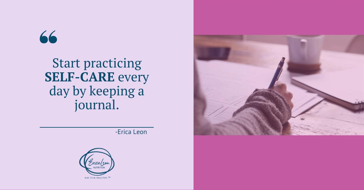 practice self-care through a journal